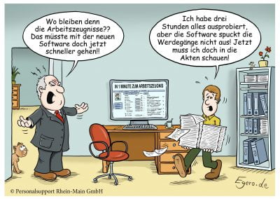 PSRM Cartoon Arbeitszeugnis-Software