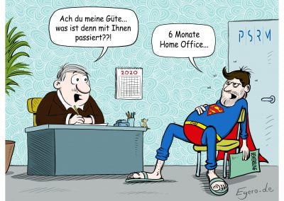 PSRM Cartoon Arbeitszeugnis Supermann